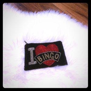 🦋2/$10 3/$15 4/$18 5/$20 Vintage Beaded Bingo Bag